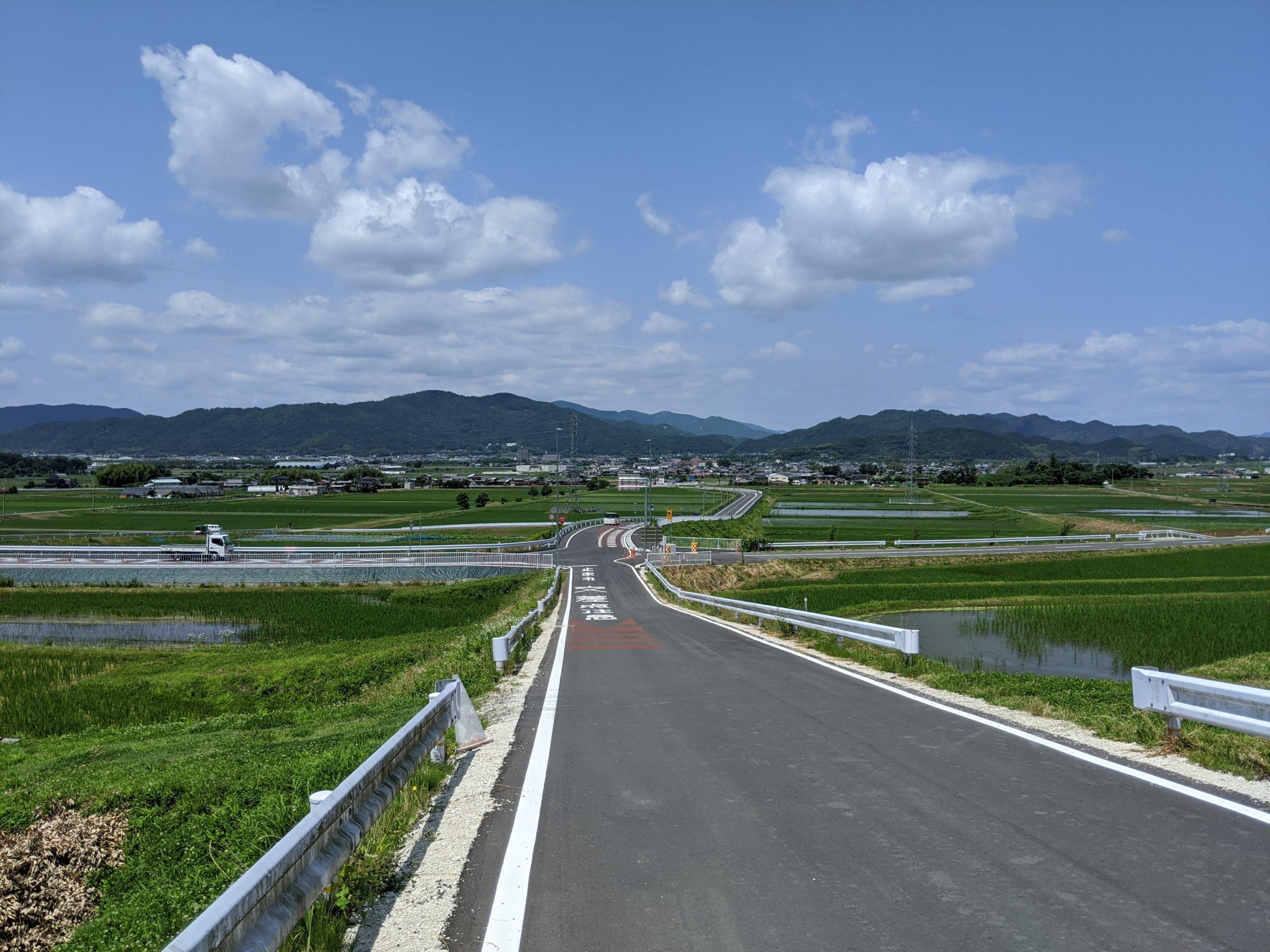 千歳町から見た馬路の風景